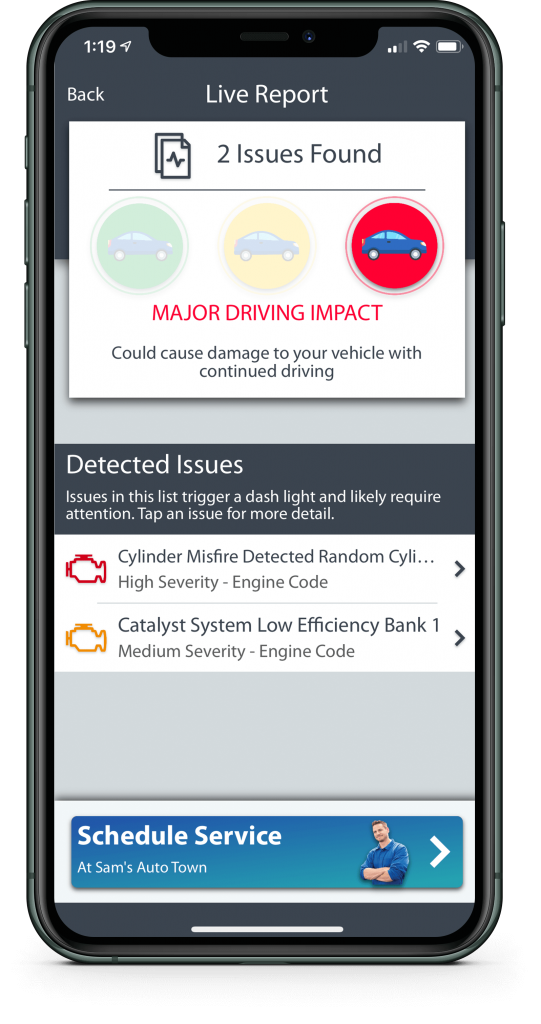 CarRx Vehicle Maintenance software app preview